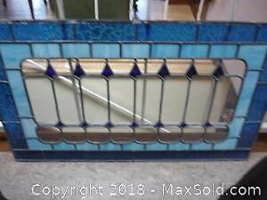 Leaded & stained glass window -A