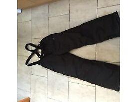 ski trousers salopettes black dare to bare size 163 170 cm tall
