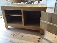 Solid oak sideboard and tv unit Matching pair.