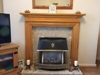 Fire surround / back plate and hearth