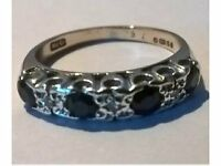9 Carat Gold Diamond and Sapphire Eternity Ring