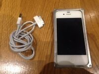 iPhone 4s (Unlocked) with Brand New Battery and Aluminium Bumper Case