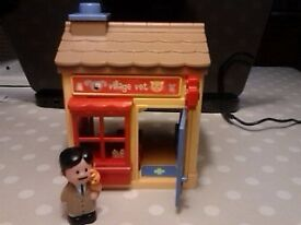 Early Learning Centre Toy village items, P.Office, Police Station, BakeryTearooms, people and cars.