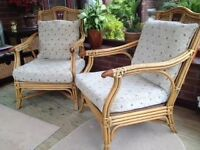 TWO CANE CHAIRS £35 for both