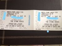 Stone Roses tickets x 2 together for tomorrow at Hampden