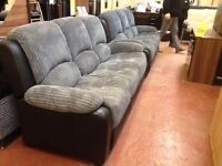 Bargain Big 3 seater sofas set-fabric-very good quality-delivery available-attractive price !