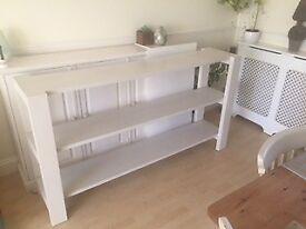 Habitat White Solid Wood Long Shelf Unit - Excellent Condition
