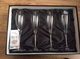 Franco Italian champagne flutes