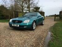 1998 Mercedes Benz SLK 230 Kompresor Auto Low Mileage Turquoise Green