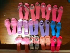 13 pairs kids barbie shoes