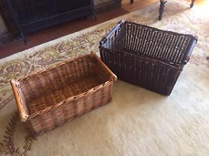 Two Large Wicker Baskets