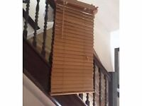 Wooden Venetian blinds with fixings