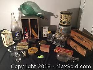 Vintage Tin And Box Lot