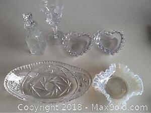 Lot Vintage Crystal And Elegant Glassware