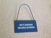 Boys Bedroom door sign