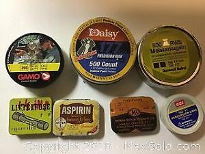 Lot of Vintage small metal tins