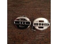 Pair of solid sterling silver cuff links