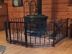 Stove Surround - Cast iron with a hinged gate