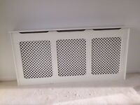 2 X White high gloss painted radiator cover
