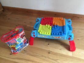 Mega Bloks Table (with bonus blocks)