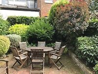Garden furniture set - wooden table + 6 chairs