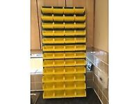 Parts Picking Bin with Metal Rack. Great for storage of screws etc