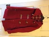 Red Duffle Coat (TopShop size 8) used in excellant condition