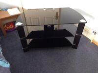 Tv unit (black glass)