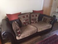 Stylish DFS 'Santiago' 3 and 2 seater cushion back sofas for sale