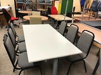 Table / adjustable/ 6 x chairs plus delivery free locally £120