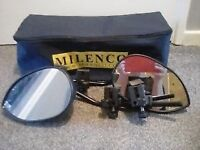 Pair of Milenco Aero Towing mirrors - Very Good Condition in storage bag