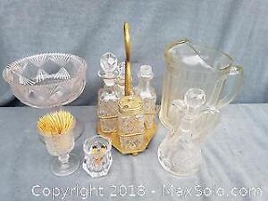 Old Pressed Glass Table Set