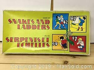 Snakes And Ladders Vintage Game