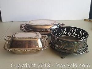 Lot Of Silverplate Serving Dishes