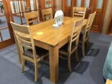 DINING TABLE,SEATS 6 SOLID AMERICAN OAK 1.8M, LIMITED STOCK, NEW Vineyard Hawkesbury Area Preview