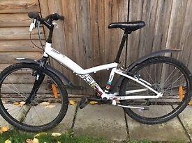 "Childs hybrid bike - 24"", 6 speeds. White frame. Great condition."