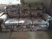 3 seater sofa with matching armchair