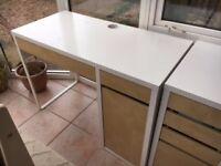 IKEA Desk & drawers on Castors