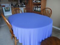 purple silky table clothes
