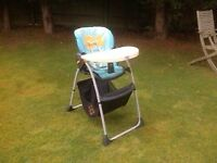 Chicco Highchair with toy tidy under. Used only by grandparents.