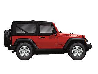 - Jeep Wrangler New Canvas Cloth Fabric Soft Top 2dr Blk Mopar Oem