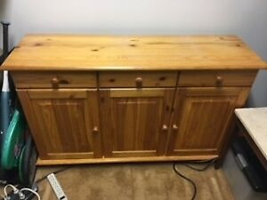 3 door buffet cabinet - St. Albert