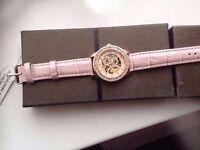 new boxed pink girls women wrist watch pink gold christmas birthday unwanted gift present diamond