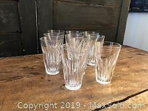 10 Cut Crystal Glasses, May Be Eileen Pattern