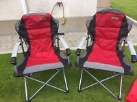 Quest Superlite Commander Folding Armchair x 2
