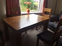 Beautiful Oak Dining Room and Chairs for sale