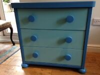 Ikea blue chest of draws
