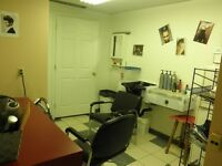 Salon space for rent downtown