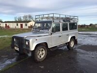 2004 ' 54 plate TD5 9 Seat Defender - Silver, roof rack, tow pack, LR seat covers, good condition
