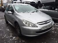 peugeot 307 2005 Petrol 1.6 silver breaking for spares - wheel nut